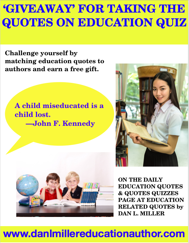 Challenge yourself by matching quotes on Education to