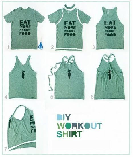 C mo convertir tu camiseta en una blusa de tirantes reciclando la ropa pinterest tirantes - Como cambiar de look en casa ...