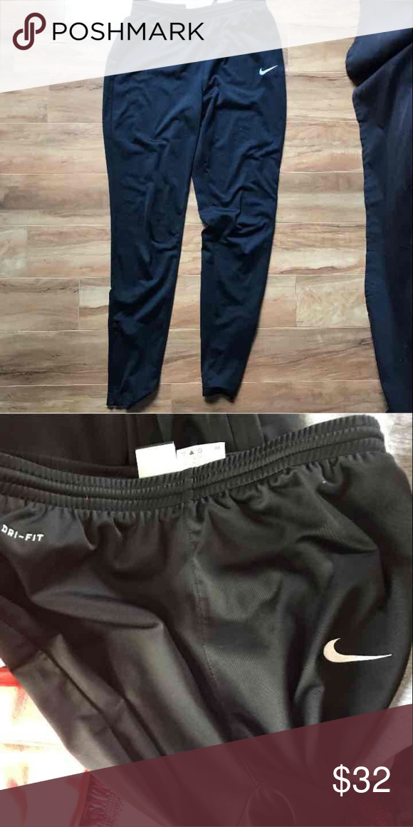 official images diversified in packaging differently Nike sweat pants Dri fit , look brand new , have the zipper ...