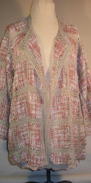 Lace Pin Loom Cardigan | Prendas y puntos en telar | Pinterest ...