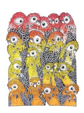 The Budgerigars by Susan Vera Clarke