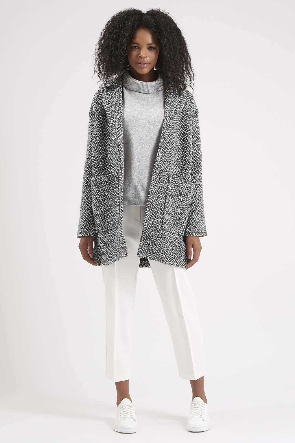 Textured Wool Ovoid Jacket - Coats - Clothing | Coats, Topshop and ...