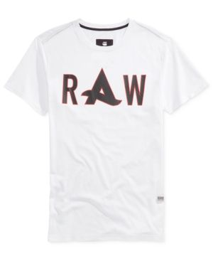 1ee41f49c4 G-Star Raw Men's Afrojack Graphic-Print Logo T-Shirt - White XXL ...