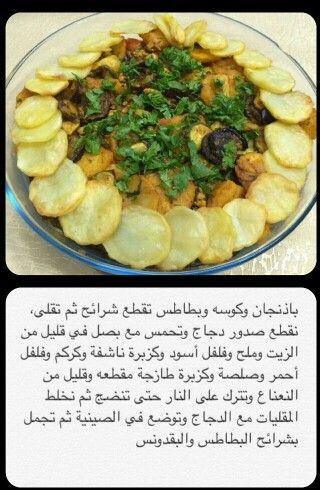 صدور الدجاج مع المقالي Tunisian Food Food And Drink Cooking Recipes