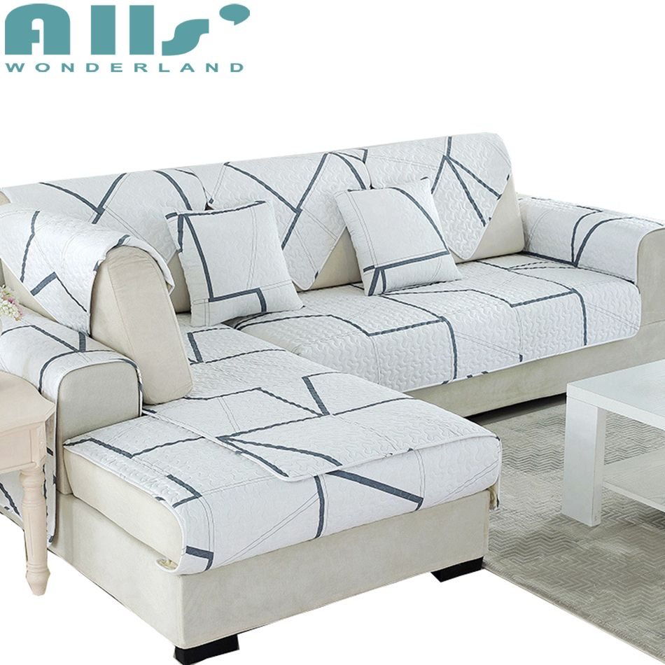 Stupendous White And Grey Sectional Sofa Slipcover Geometric Patterns Uwap Interior Chair Design Uwaporg