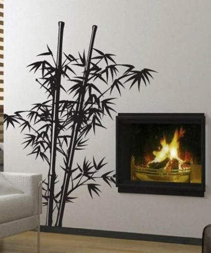 Asian Art Wall Stickers :: Lush Bamboo Wall Decal