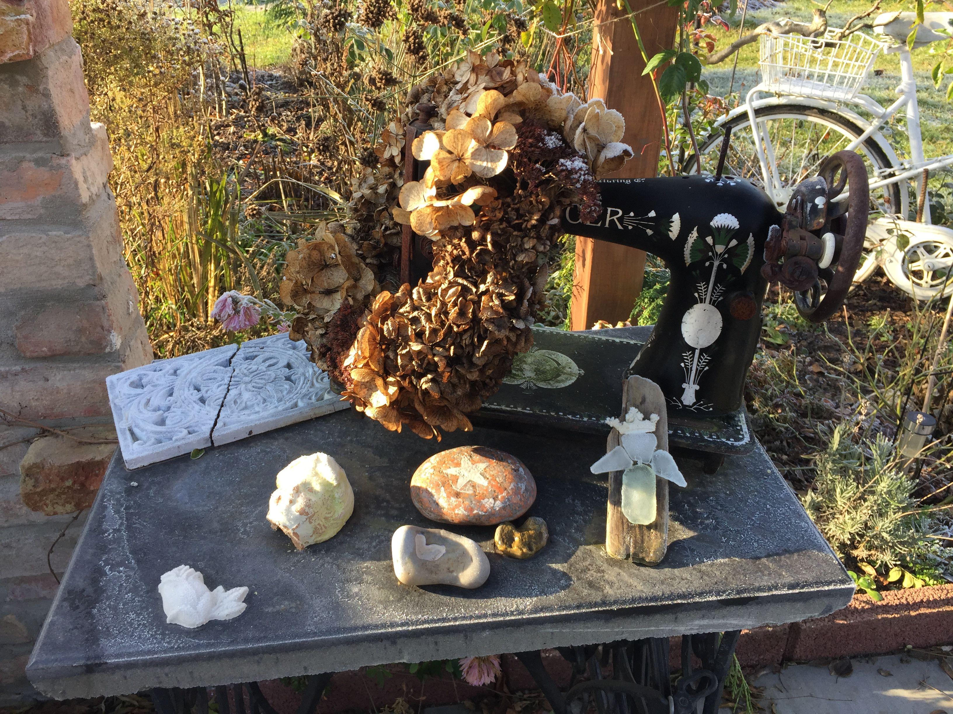 Deko Garden Nähmaschine My Garden Pinterest