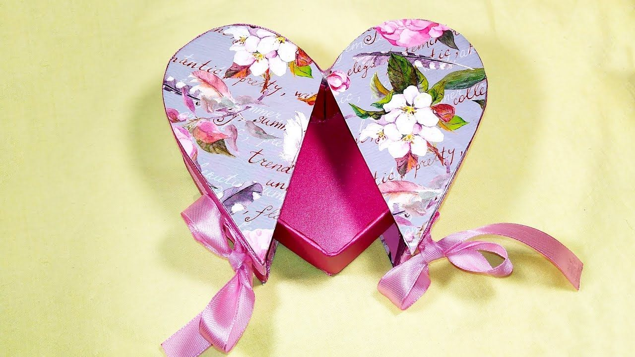 DIY Heart shaped gift box! Gift box in the shape of heart! Valentineu0027s i. & DIY Heart shaped gift box! Gift box in the shape of heart ...