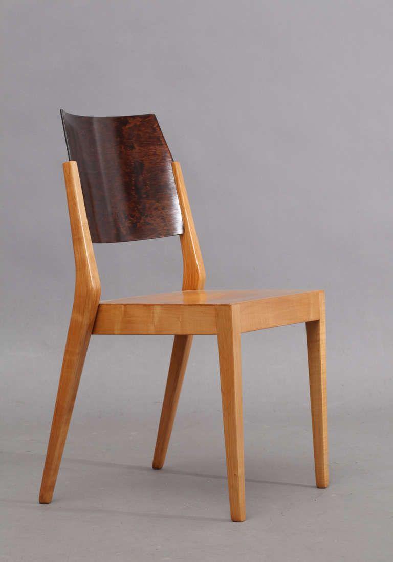 Karl Schwanzer Beech Stacking Chair For Werkbundausstellung Vienna 1953