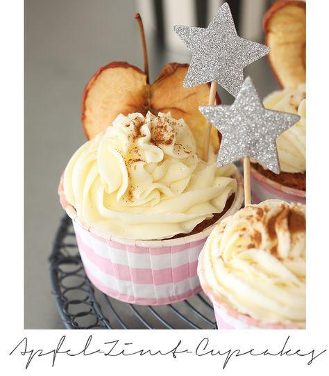 ( Puppenzimmer ): Herbstliche Apfel-Zimt-Cupcakes #cheesecakecupcakes
