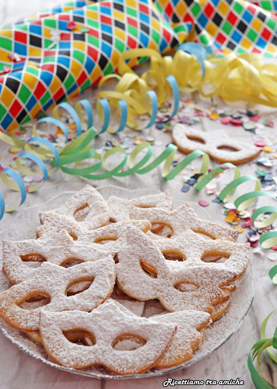 taglia 7 dal costo ragionevole aspetto estetico Mascherine di Carnevale di pasta frolla | Ricette dolci ...