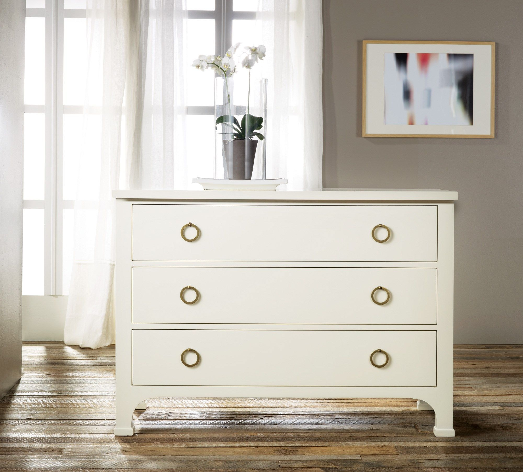 Three Drawer Painted mode Chests Modern History