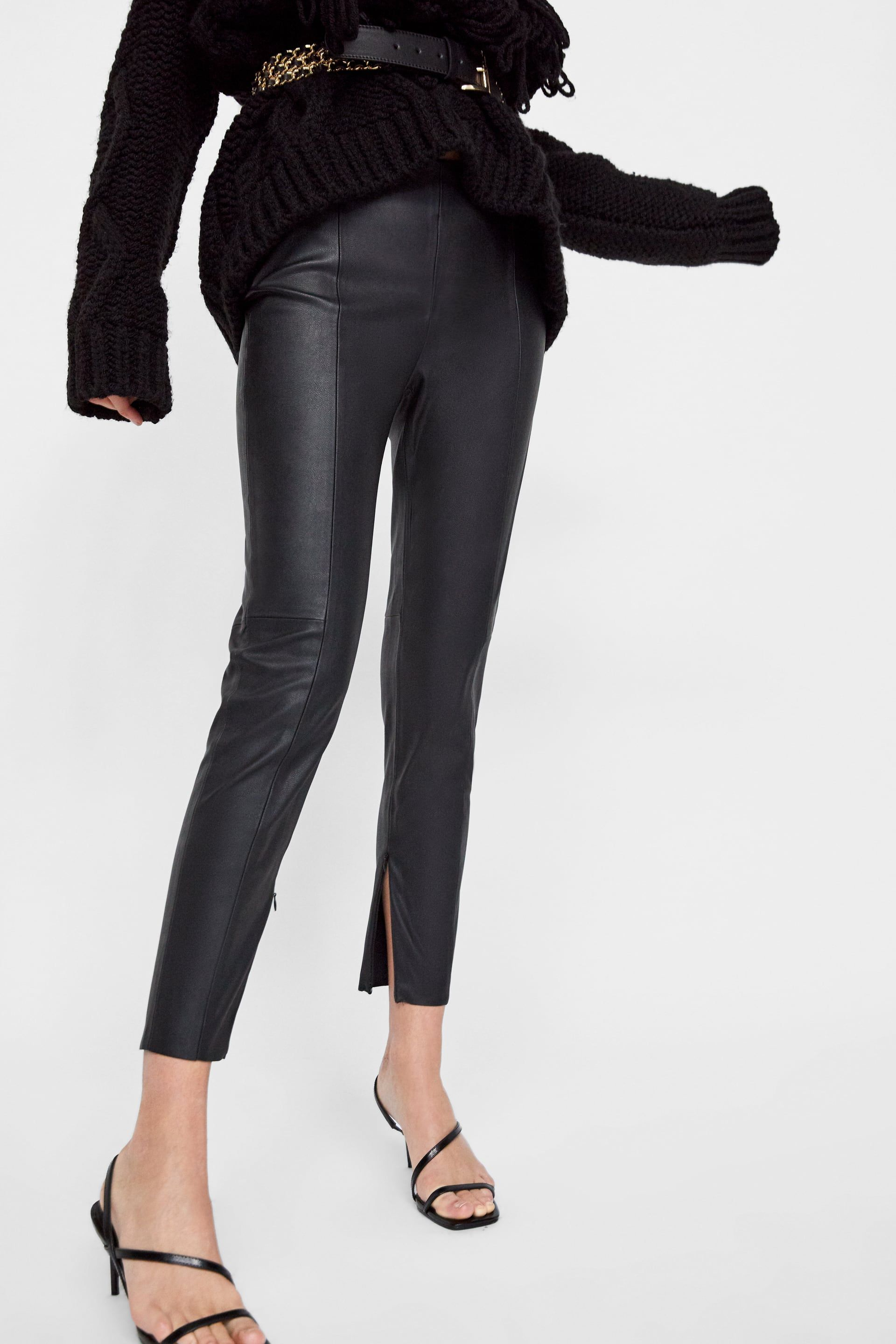 Image 2 Of Faux Leather Leggings From Zara Faux Leather Pants Faux Leather Leggings Leather Leggings