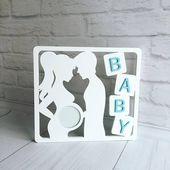 Personalised Baby Scan Cadre Photo Échographie-Mum Maman Grand-parent à être cadeau