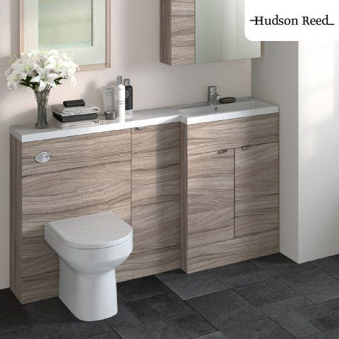 1500x355mm Hudson Reed Combination Furniture Driftwood Vanity Unit