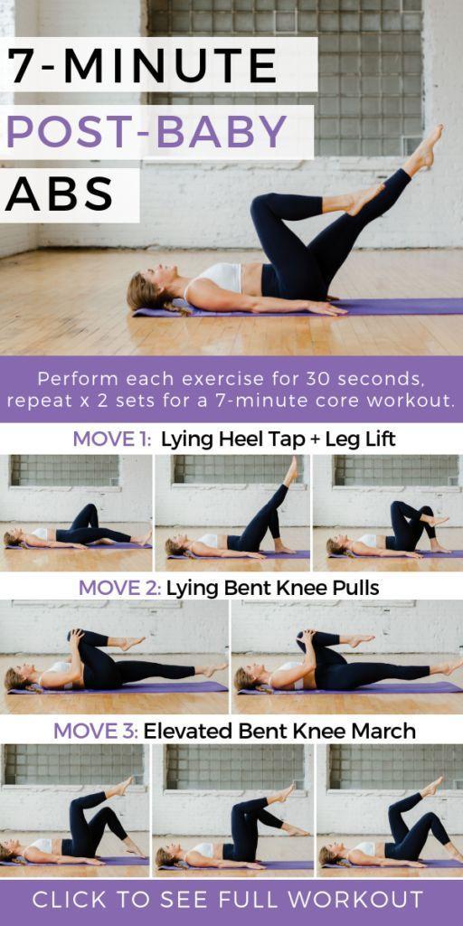 7 Übungen zur postpartalen Genesung + Diastasis-Rektus - Sport und Frauen #goodcoreexercises