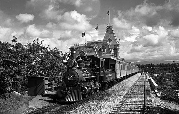 Disneyland Railroad at Disneyland California