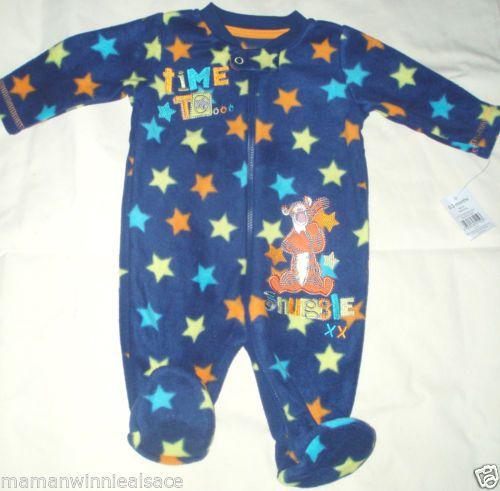 pyjama-polaire-disney-neuf-etiquete-tigrou-taille-0-3-mois
