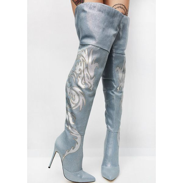 Thigh Boots with Jeans