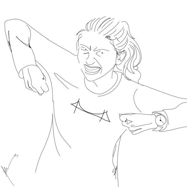 line drawing fierce by brashmode creative
