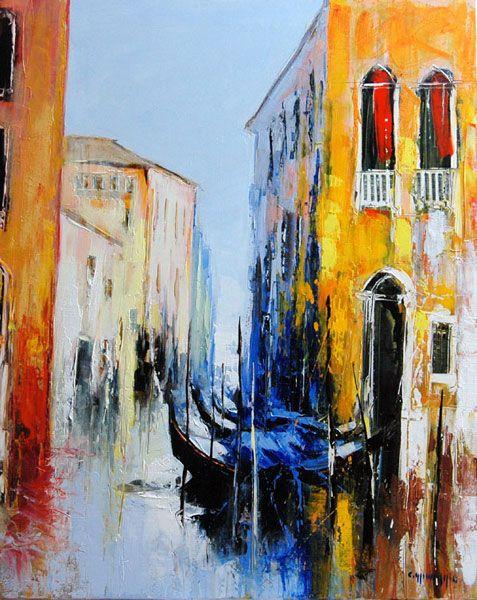 Peinture celestin messaggio les gondoles au repos mod les tableaux pinterest le repos - Peinture qui cache les defauts ...