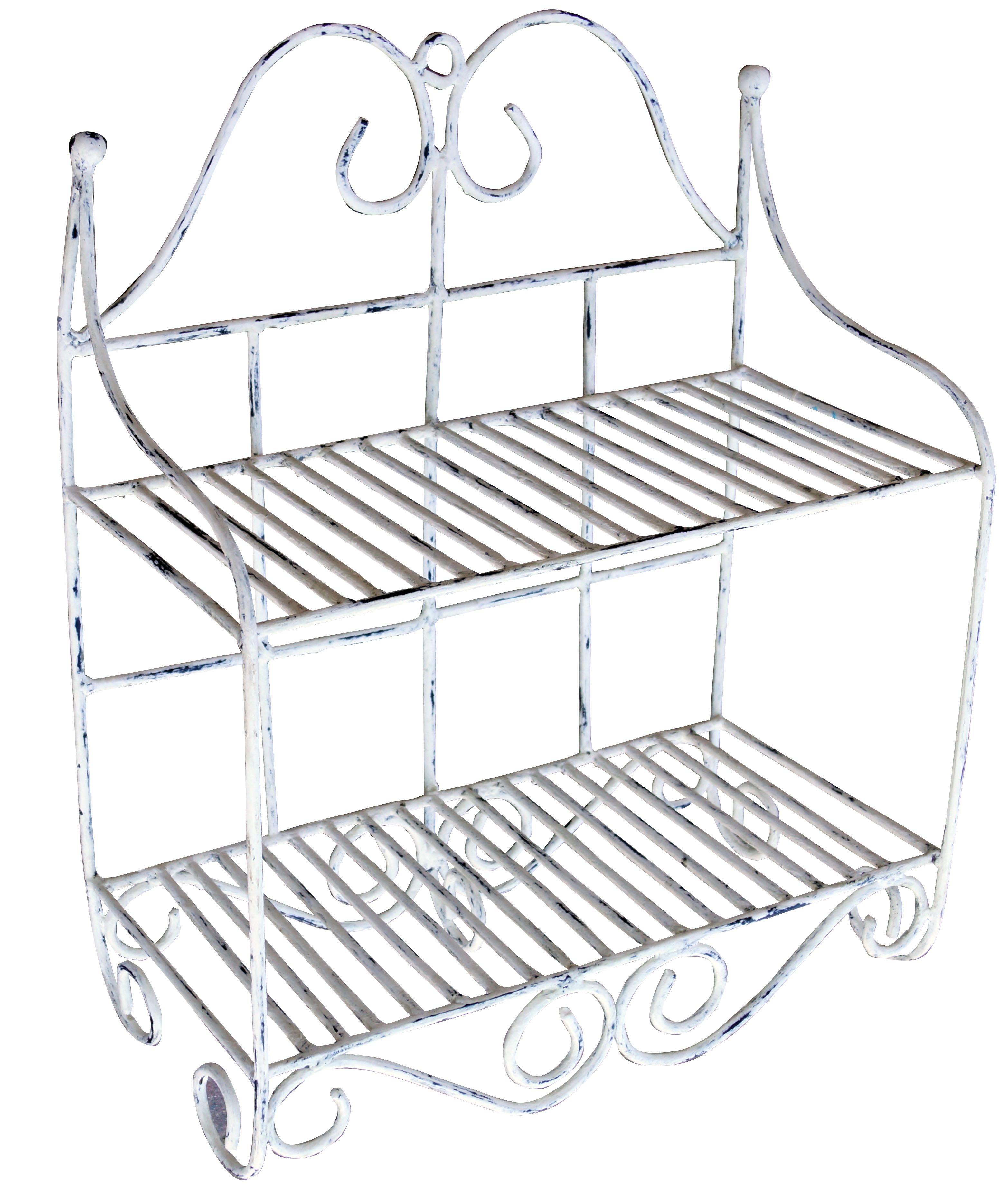 ein shabby chic #wandregal aus metall passt gut in küche oder bad, Wohnzimmer dekoo