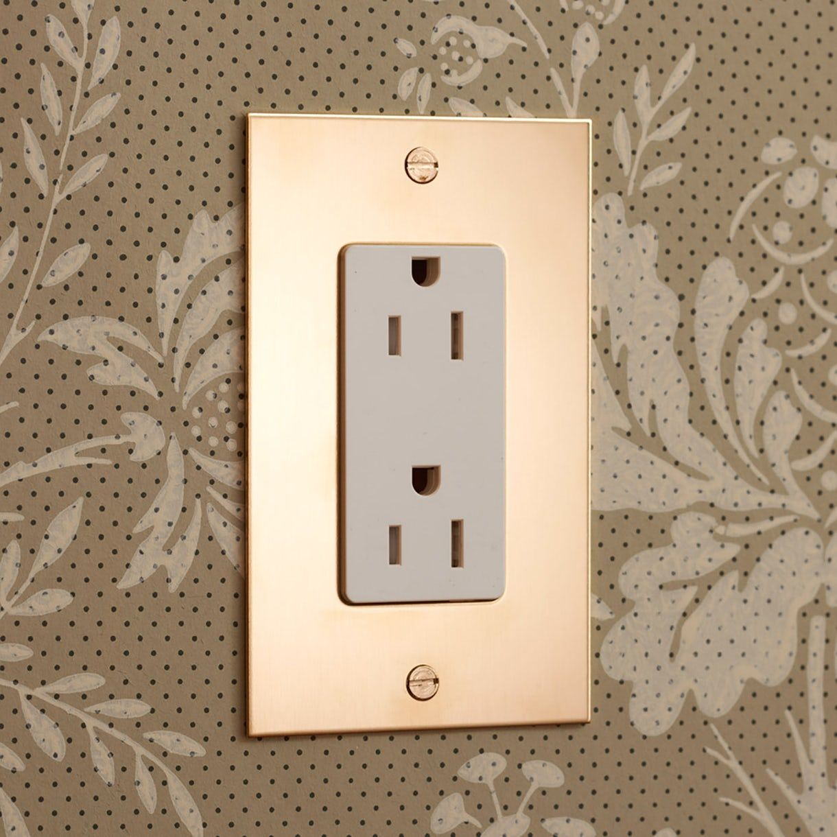 Contemporary Electrical Outlets Unlacquered Brass Light Switches Nancy Brass Modern Light
