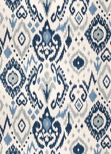03366 Blue - Vern Yip Fabric - Vern Yip Fabrics - FREE SHIPPING - Decorator Fabric Rooms