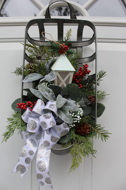 Christmas Door Wreath, Christmas Door Decor, Holiday