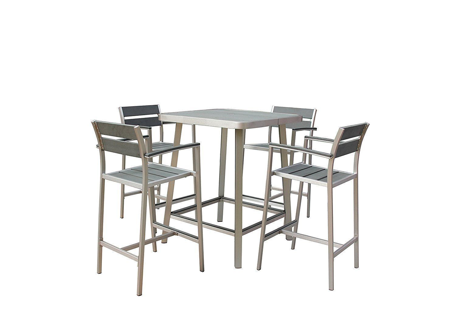 Amazon Boraam Polylumber 5 Piece Canaria Pub Set
