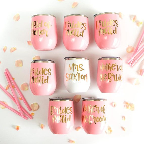 Stainless Steel Tumbler with Lid and Straw, Custom Bridesmaid Gifts, Bachelorette Party Favors, Pers #bachelorettepartyideas