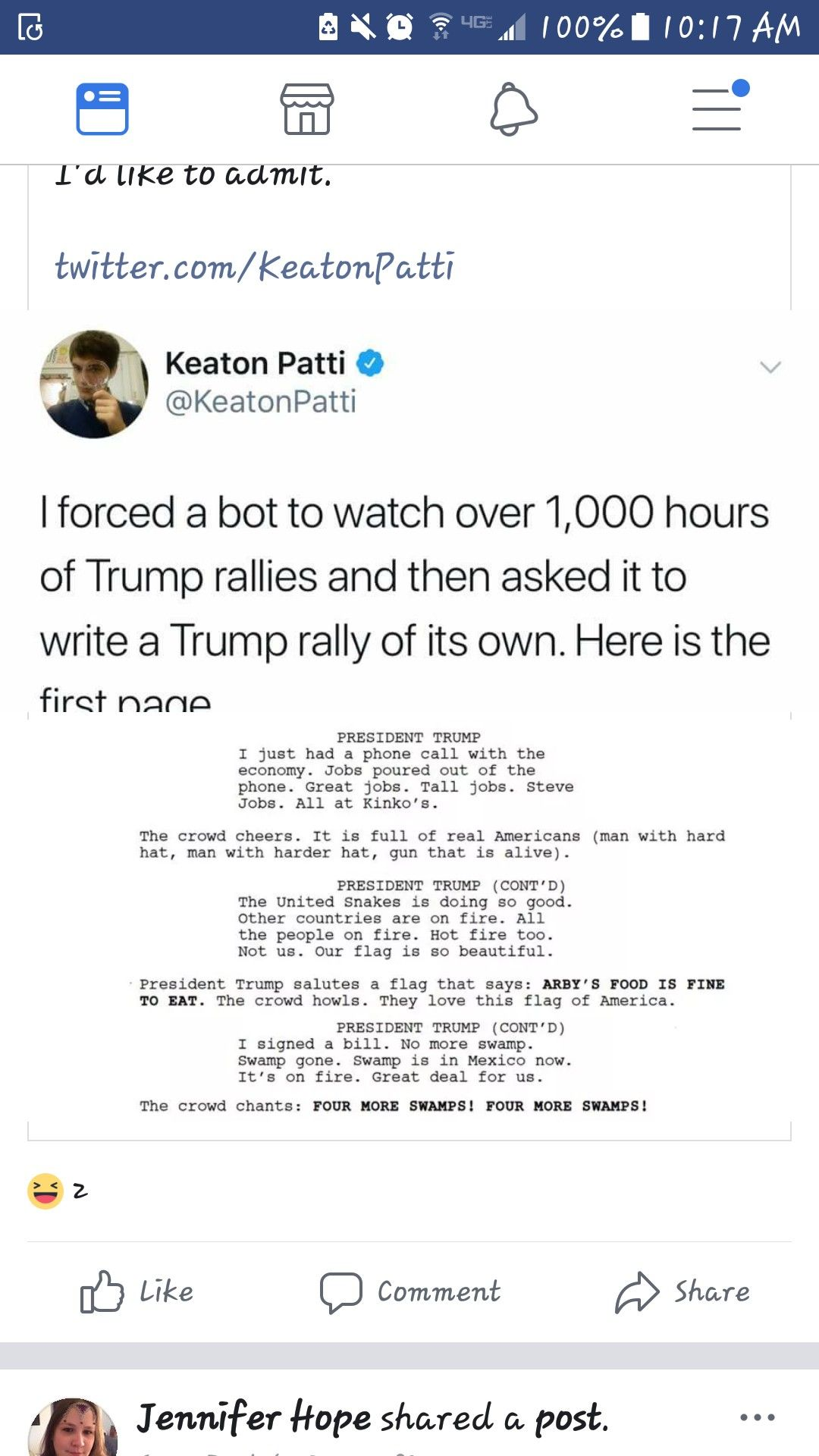 Bot Written Script For A Trump Really Speech Haha Funny Script Writing Funny Memes