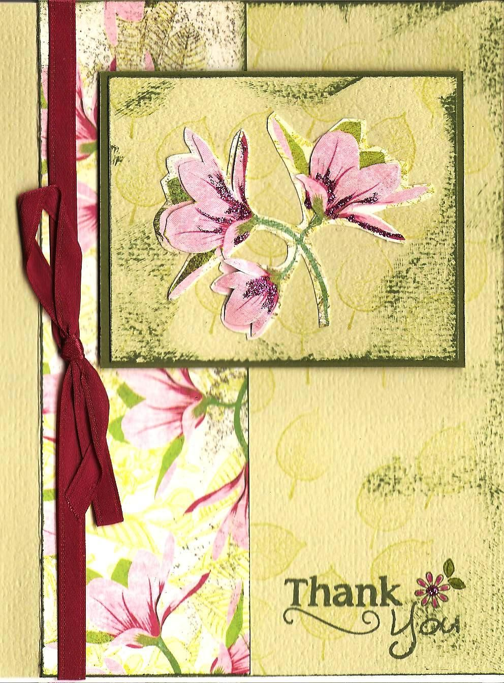 Thank You Card Card Making Pinterest Cards Cardmaking And