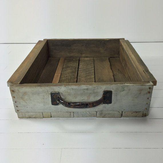 vintage wooden crate modern farmhouse wooden by trendinghomedecor