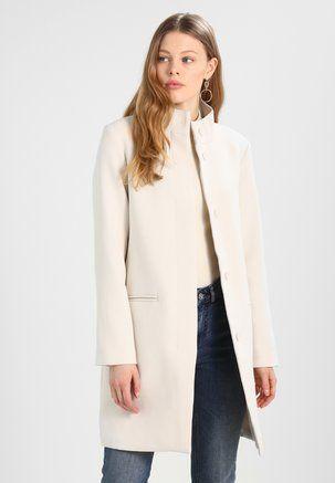 Esprit stretch mantel mit hohem kragen