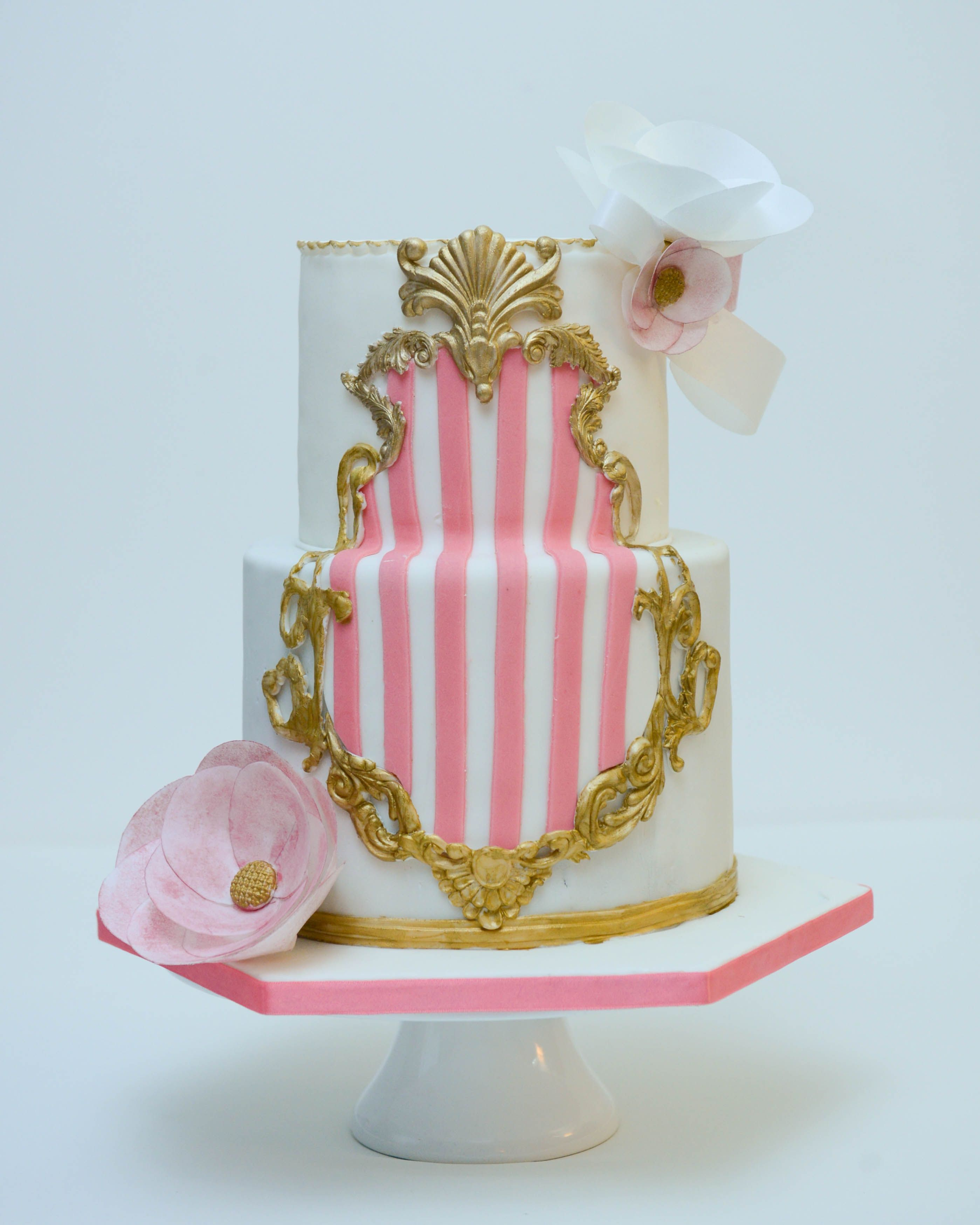 Wedding Cake Recipe Custom History: Baroque Frame Wedding Cake Custom Made Gold Baroque Frame