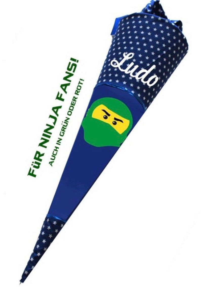 Xxl 85 Cm Schultute Zuckertute Ninjago Einschulung Blau Etsy In 2020 Wind Sock List Ninjago