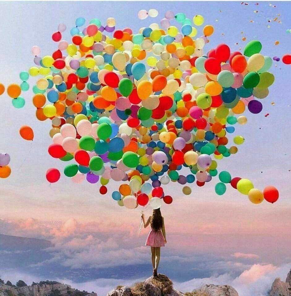 Balloons birthday Verjaardagskaarten