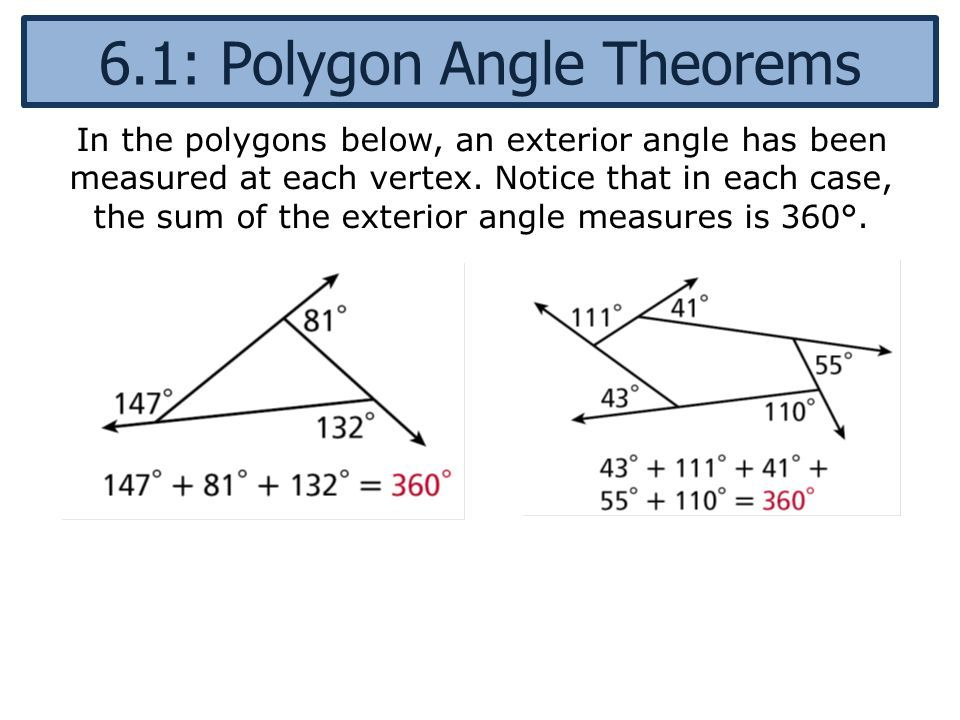 Pin On Exterior Angle Theorem Hexagon
