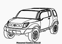 Mewarnai Gambar Mobil Suzuki Landbreeze Mobil Warna Gambar