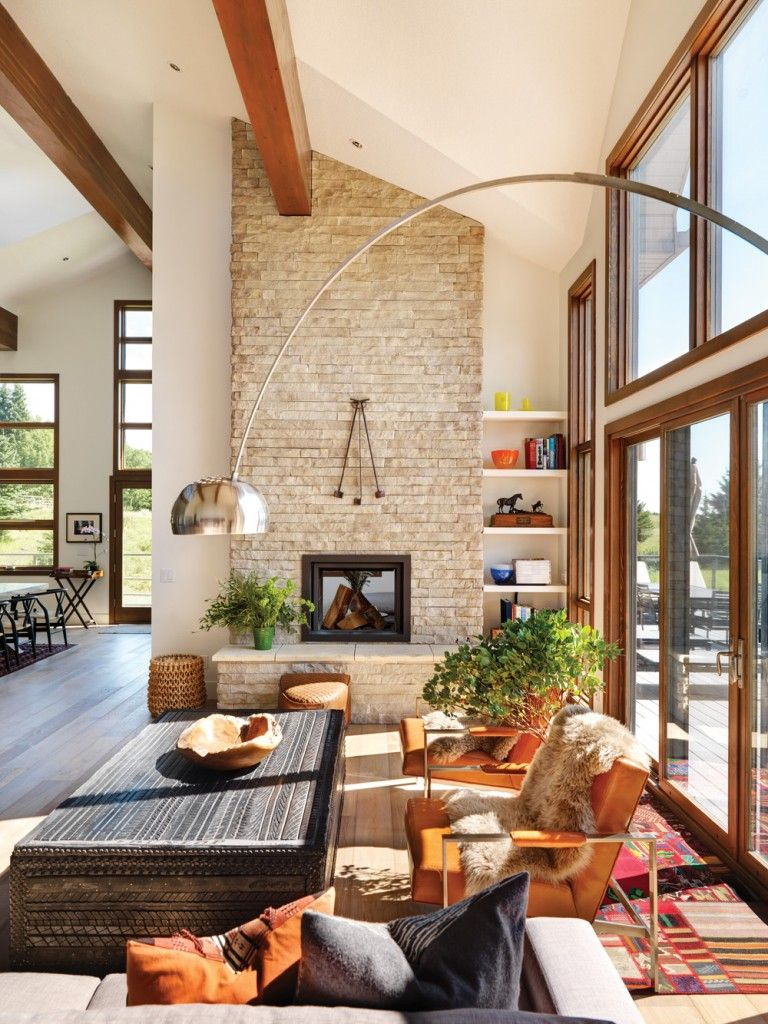 ranch style living room western living warmth Pinterest