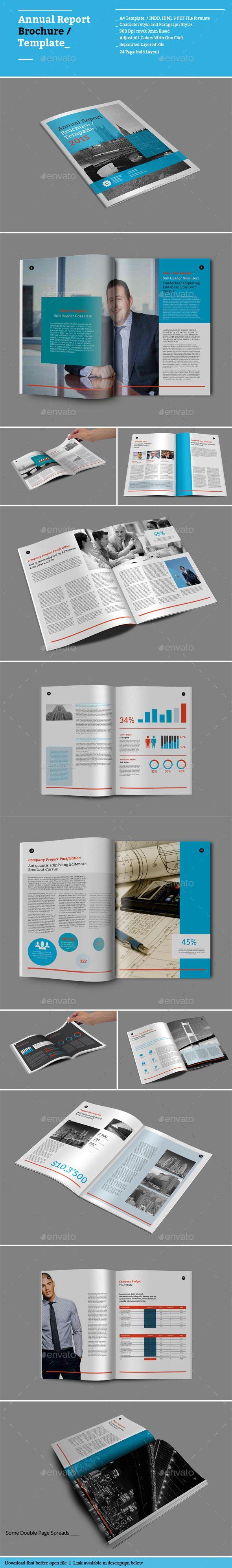 Anuales plantillas Informe Folleto Informativo - Folletos | Diseño ...