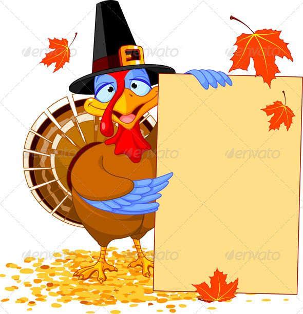 Thanksgiving Turkey with Holiday Note Thanksgiving turkey - free holiday flyer templates word