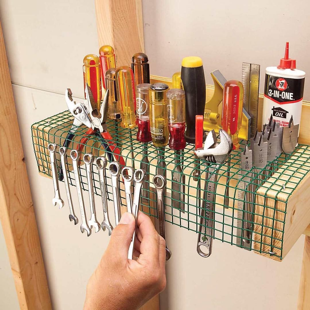 53 Likes 5 Comments The Family Handyman Familyhandyman On Instagram Store Just About Every Hand Too Garage Tool Storage Garage Tools Diy Garage Storage