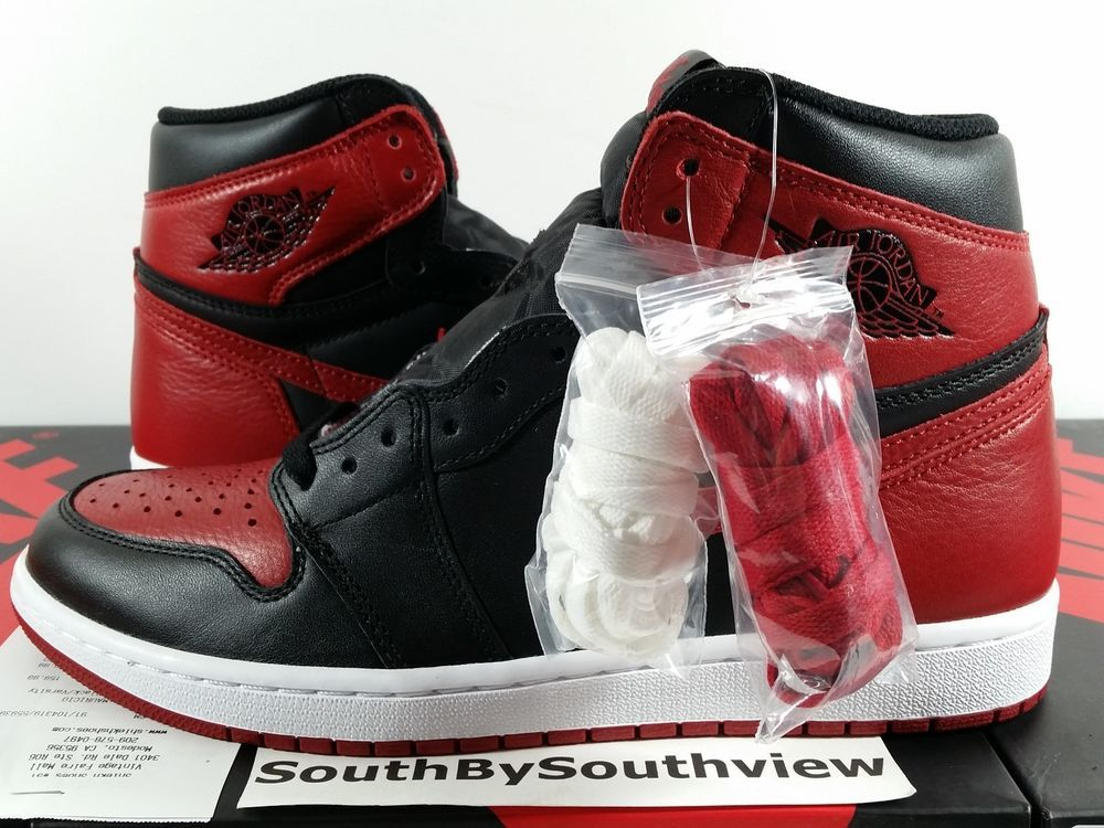save off 5e6ab 579a3 Nike Air Jordan 1 Bred Banned 2016 Black Red I Retro With Receipt 555088-001  DS  MichaelJordan  AirJordan  Jordans