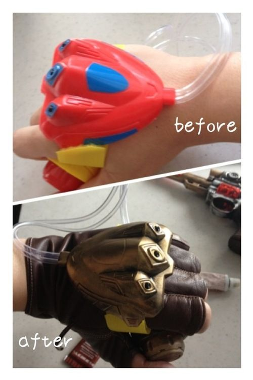 How clever . . . steampunk water gun (for hand)