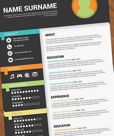 Professional Resume Templates Adobe Illustrator Maker Illistrator