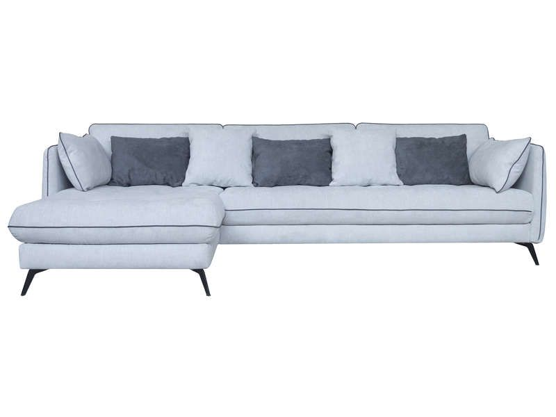 Canapé d'angle fixe 4 places en tissu ZEST pas cher