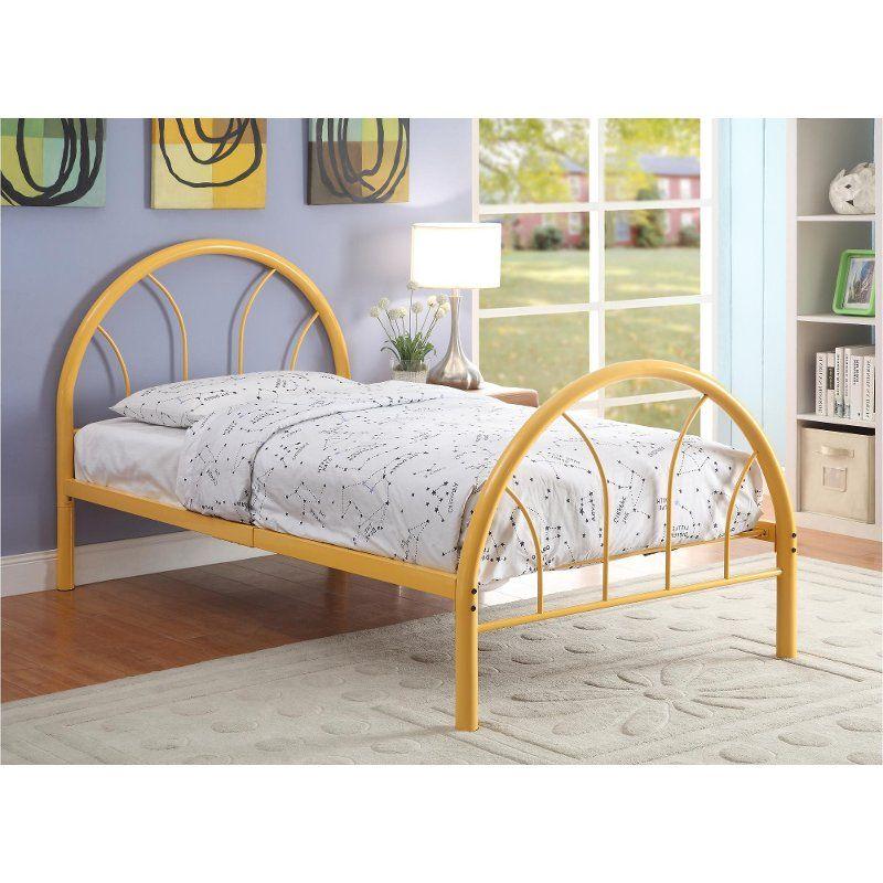 Orange Metal Twin Bed Clarkson Metal Twin Bed Furniture Of