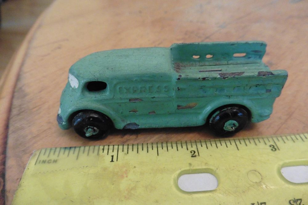 Vintage Barclay Express delivery truck old slush lead cast mold toy